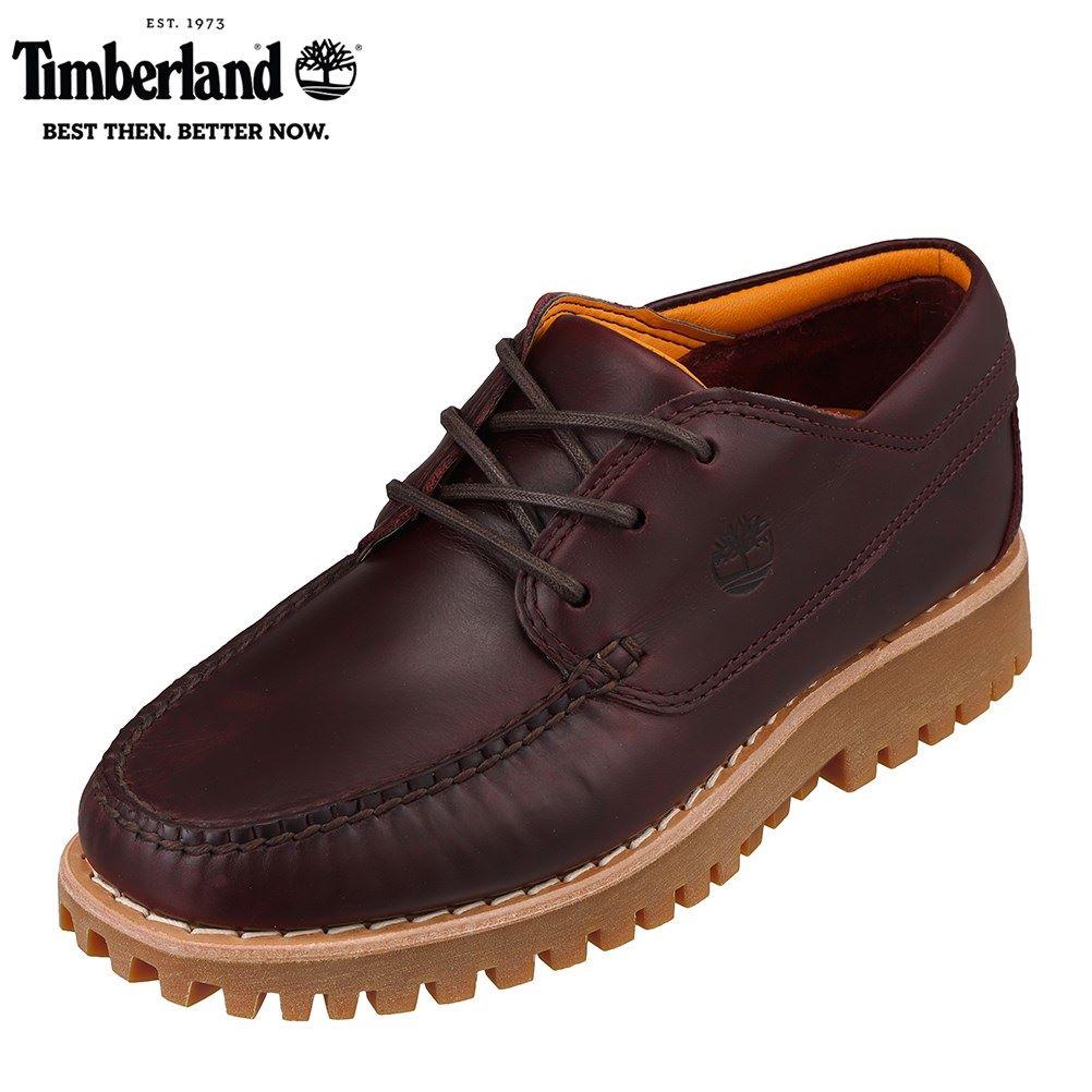 ティンバーランド Timberland TIMB A2HYM メンズ靴 靴 シューズ 2E相当 カジュアルシューズ デッキタイプ 本革 レザー レッド SP