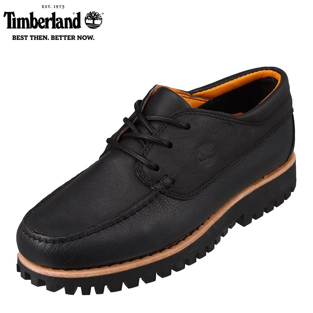 ティンバーランド Timberland TIMB A29YB メンズ靴 靴 シューズ 2E相当 カジュアルシューズ デッキタイプ 本革 レザー ブラック SP