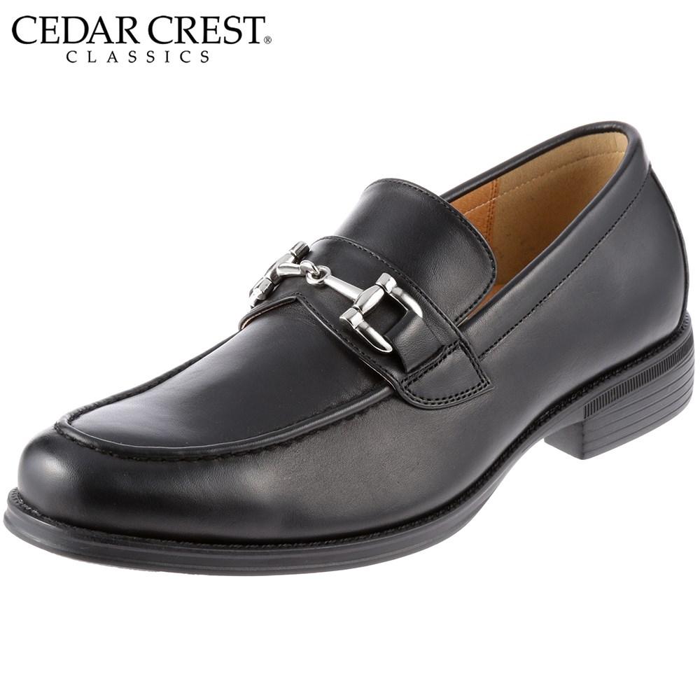 [セダークレスト] CEDAR CREST PLYMOUTH CC-1632 メンズ | ビジネスシューズ 本革 | スリッポン ビジネス | ビットローファー | 紳士靴 | 大きいサイズ対応 28.0cm | ブラック SP