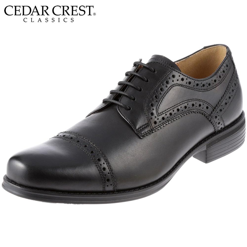[セダークレスト] CEDAR CREST MERIDIAN CC-1631 メンズ | メンズビジネスシューズ | 紳士靴 ストレートチップ | 本革 牛革 | レースアップ EPRモールドソール | ブラック SP