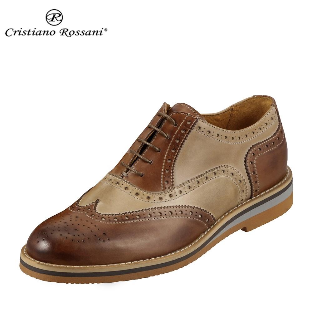 クリスチアーノ・ロザーニ Cristiano Rossani 1241 メンズ | ドレスシューズ | ビジカジ モード | イタリア製 | 小穴飾り ウィングチップ | キャメル×ブラウン SP