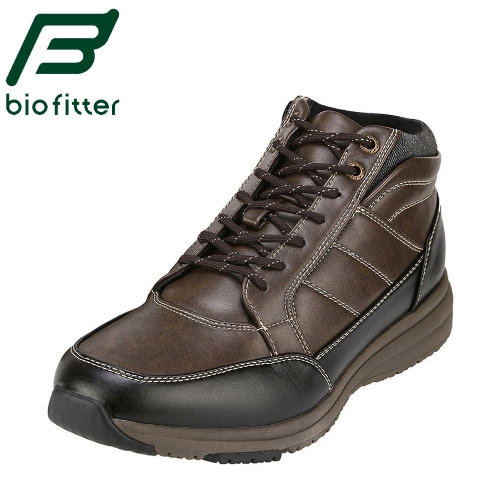 バイオフィッター サーモ Bio Fitter カジュアルシューズ BF-4908 メンズ 靴 シューズ 3E相当 ハイカットスニーカー 防水 消臭 幅広 大きいサイズ対応 ダークブラウン TSRC