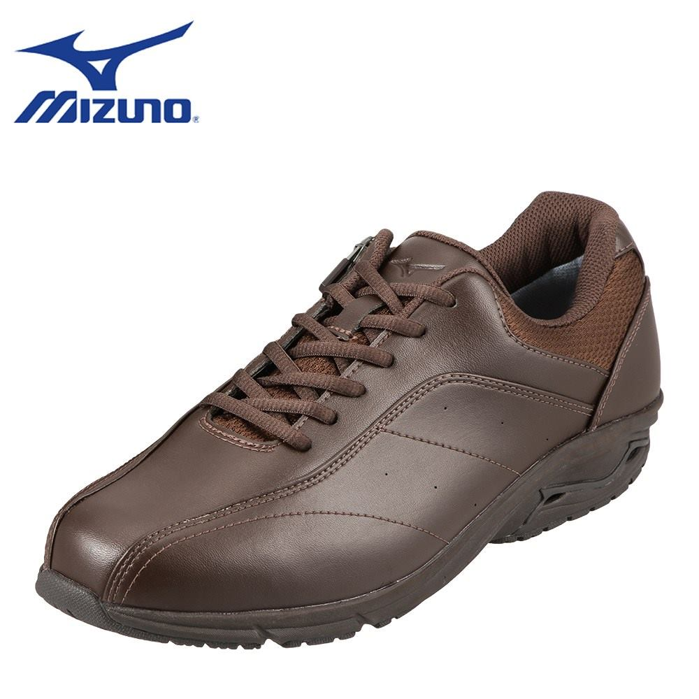[マラソン中ポイント5倍]ミズノ MIZUNO ウォーキングシューズ B1GR174258 メンズ 靴 靴 シューズ 4E相当 ウォーキングシューズ 防水 ローカットスニーカー 幅広 クッション性 小さいサイズ対応 24.5cm ダークブラウン TSRC
