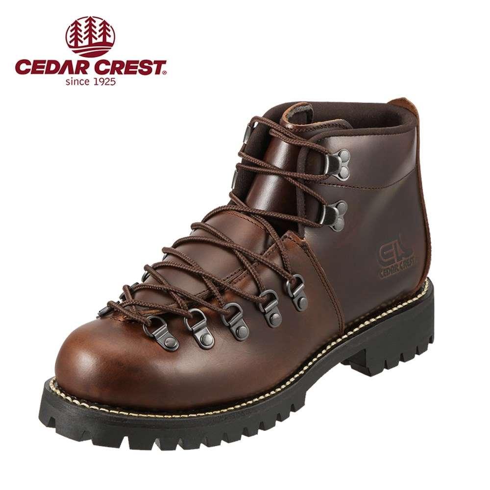 [マラソン中ポイント5倍]セダークレスト ブーツ CEDAR CREST ブーツ CC-1574 メンズ 靴 シューズ 3E相当 ワークブーツ 本革 レースアップ 幅広 衝撃吸収 クッション性 やわらかい 履きやすい 大きいサイズ対応 28.0cm ダークブラウン TSRC