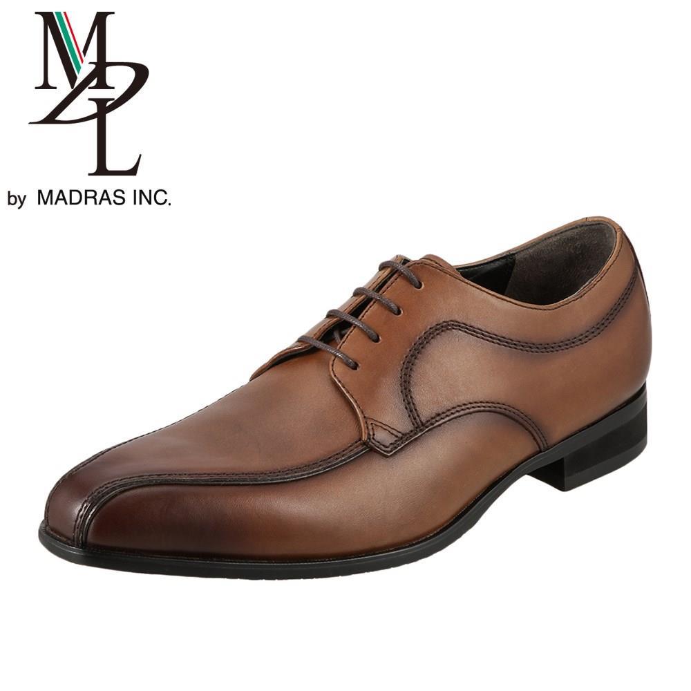エムディエル MDL ビジネスシューズ DS4060 メンズ靴 靴 シューズ 3E相当 ビジネスシューズ 本革 外羽根 スワールモカ 軽量 幅広 小さいサイズ対応 24.5cm ライトブラウン TSRC