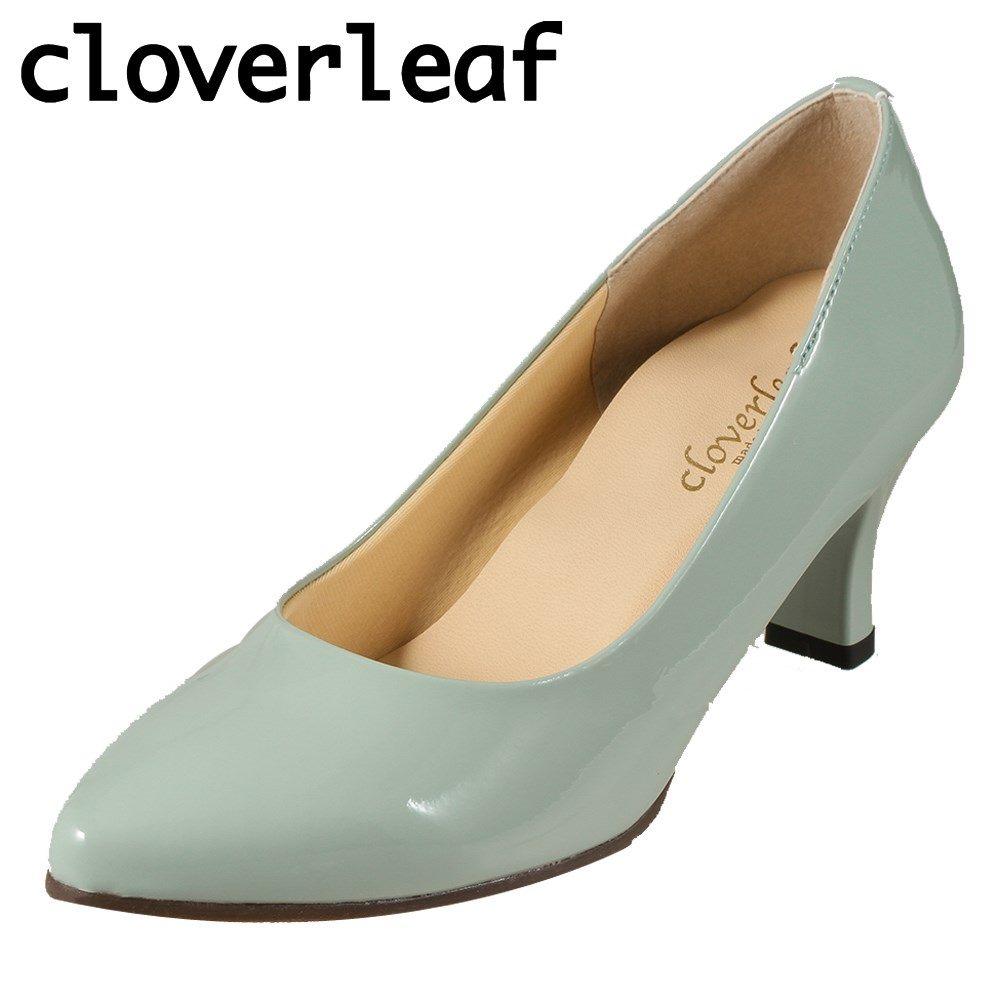 クローバーリーフ cloverleaf パンプス CL7 レディース靴 靴 シューズ 2E相当 アーモンドトゥパンプス 日本製 国産 ハイヒール 美脚 シンプル カジュアル ブルー×エナメル調 TSRC