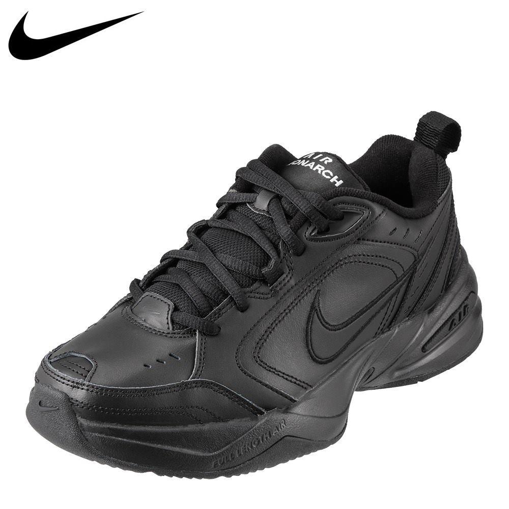 ナイキ NIKE スニーカー 415445-001 メンズ靴 靴 シューズ 2E相当 ローカットスニーカー エア モナーク4 AIR MONARCH 90年代 トレンド トレーニング スポーツ 大きいサイズ対応 28.0cm 29.0cm ブラック×ブラック TSRC