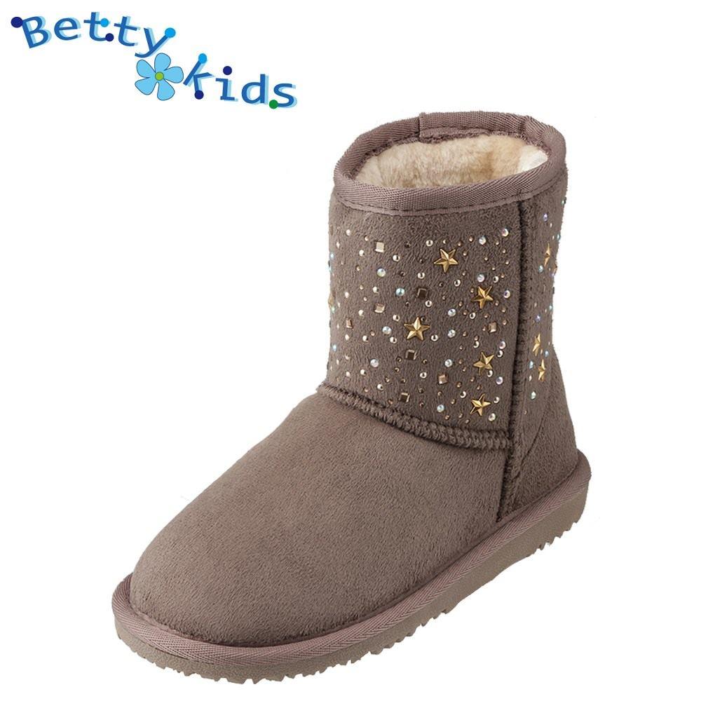 90aec7857a054 BettykidsベティーキッズBK-37001キッズ・ジュニアムートン風ブーツショートブーツ子ども女の子