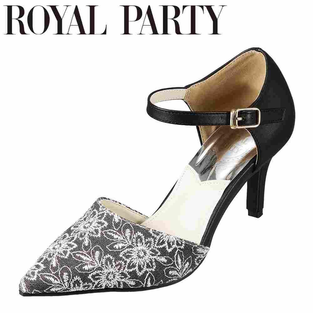 ロイヤルパーティ ROYAL PARTY RP5260 レディース靴 靴 シューズ 2E相当 セパレートパンプス ふかふかインソール クッション性 異素材コンビ エレガンスパンプス ブラック TSRC