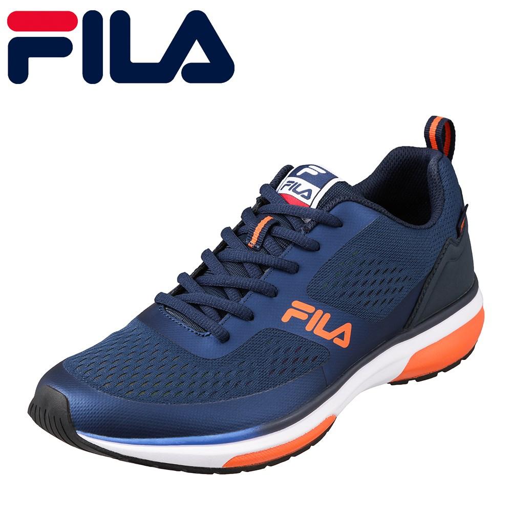フィラ FILA FC-2206 メンズ靴 3E相当 スポーツシューズ ランニングシューズ Vincitore 大きいサイズ対応 ネイビー×オレンジ TSRC