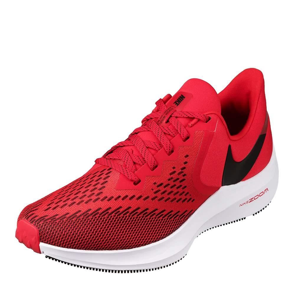 [マラソン中ポイント5倍]ナイキ NIKE AQ7497-600 メンズ靴 2E相当 メンズランニングシューズ ズーム ウィンフロー 6 通気性 大きいサイズ対応 レッド TSRC