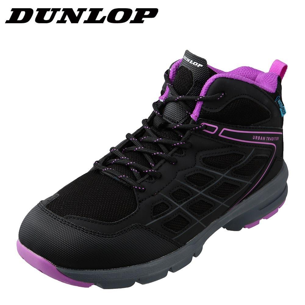 ダンロップ DUNLOP DU442 レディース靴 3E相当 アウトドアシューズ 防水 軽量 山登り 軽登山 メッシュ ブラック TSRC