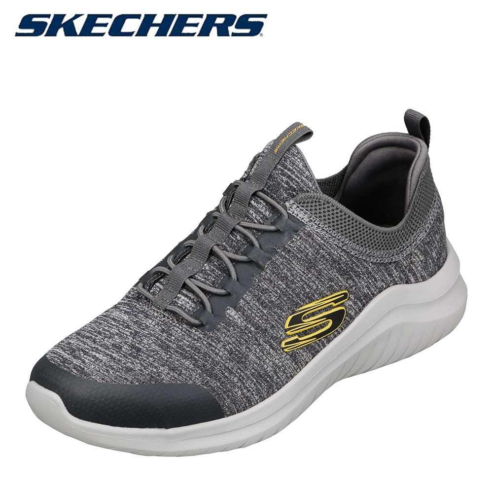 スケッチャーズ SKECHERS 52765 メンズ靴 スポーツシューズ ジム ランニング トレーニング 低反発 インソール 大きいサイズ対応 グレー TSRC
