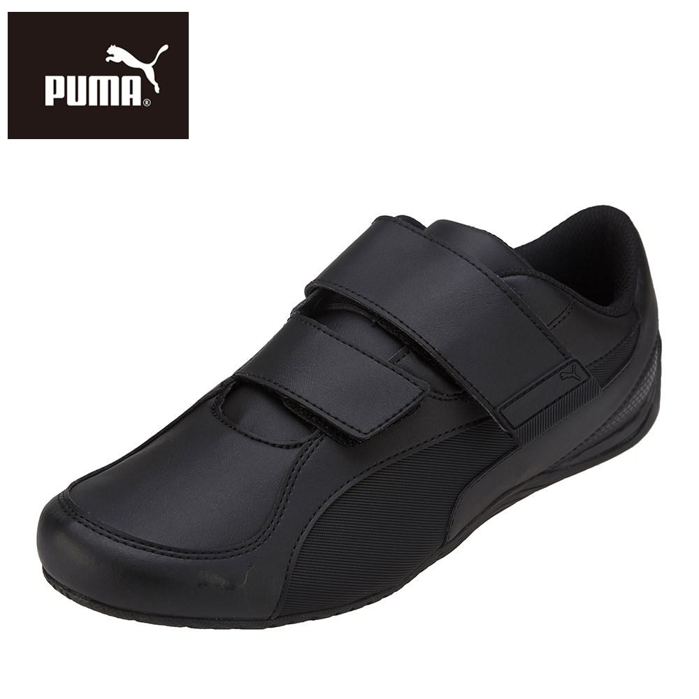 プーマ PUMA 339861 M 01 メンズ靴 2E相当 スニーカー スポーツシューズ レザーカットデザイン Drift Cat 5 AC ブラック TSRC