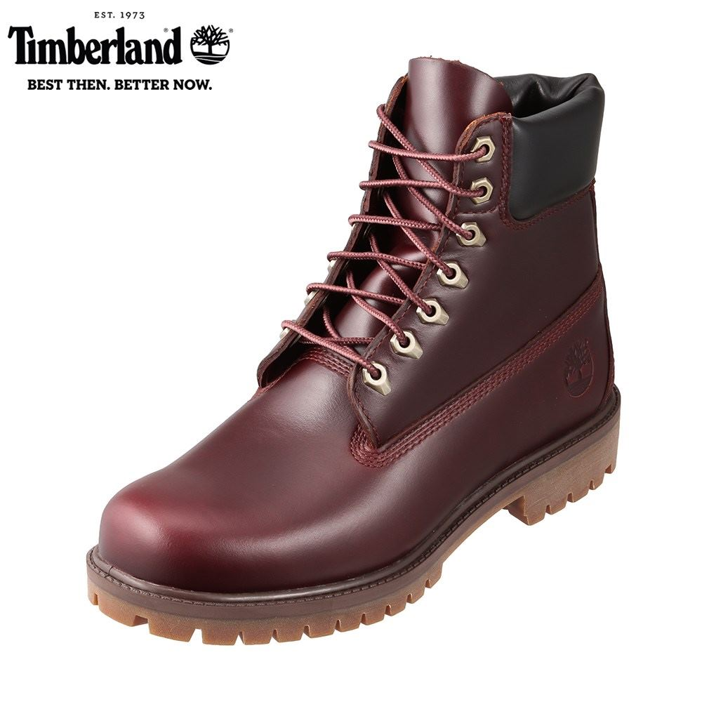 ティンバーランド Timberland TIMB A22W9 メンズ靴 3E相当 ブーツ 防水 ウォータープルーフ シックスインチブーツ 6インチ 本革 レザー マッドブラウン TSRC