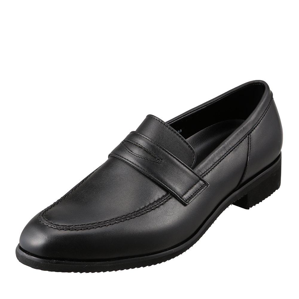 ヒロミチナカノ hiromichi nakano 423H メンズ靴 3E相当 ビジネスシューズ 軽量 ビブラムソール コインローファー 小さいサイズ対応 ブラック TSRC