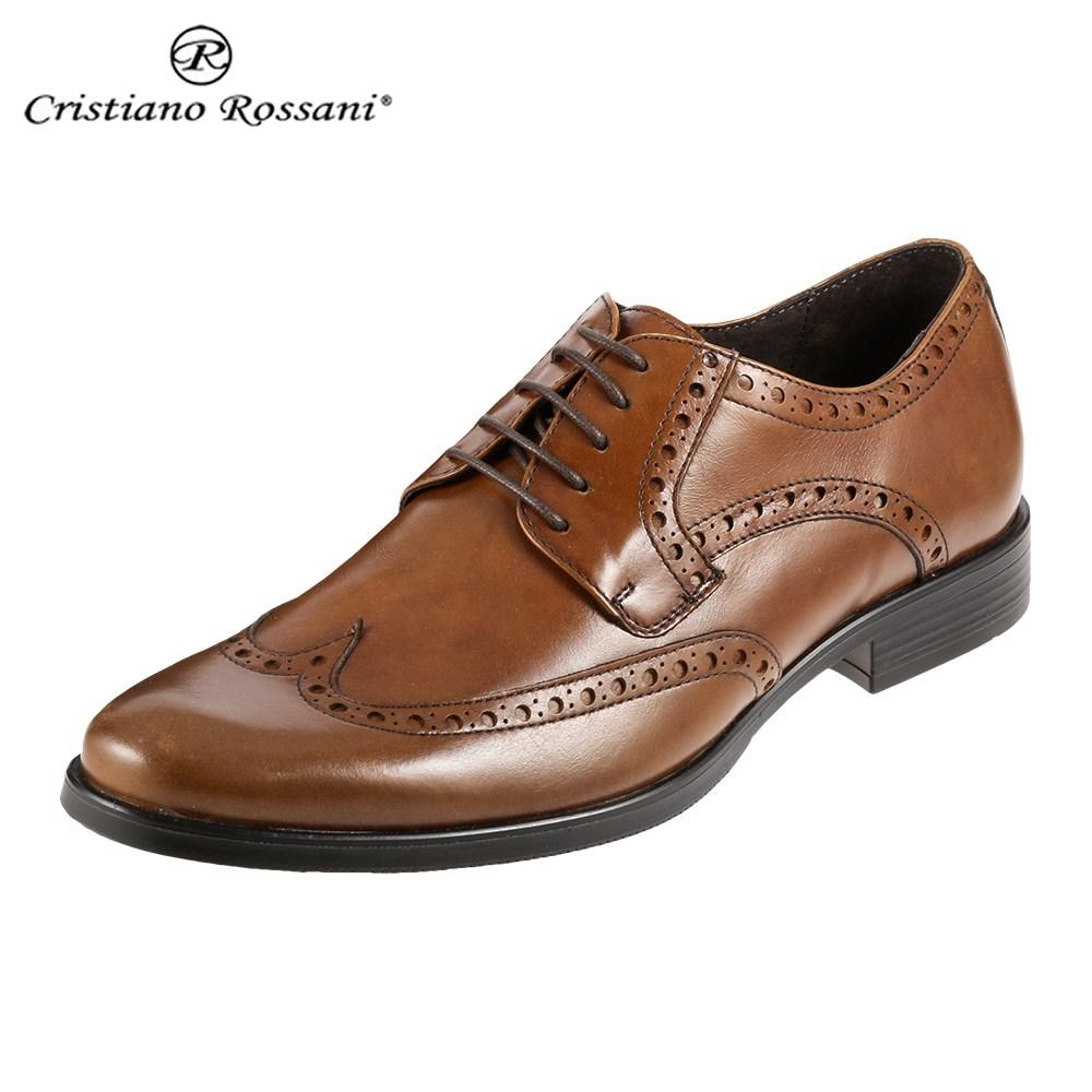 クリスチアーノ・ロザーニ Cristiano Rossani 8878 メンズ | ビジネスシューズ | 外羽式 ウィングチップ | レザー パーティ | 幅広 ゆったり | ブラウン TSRC 取寄