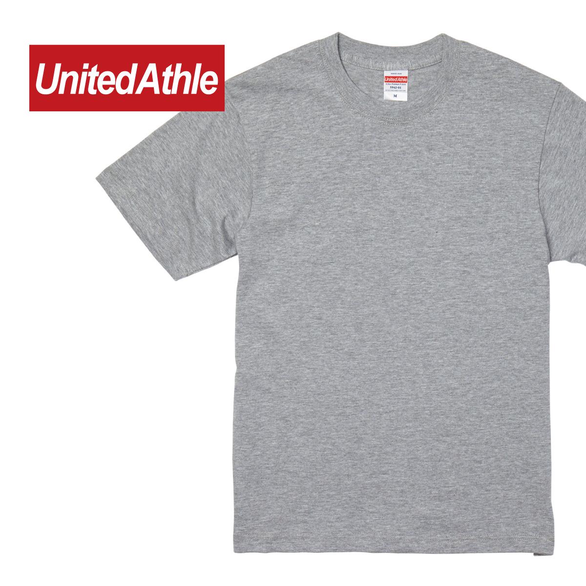 Tシャツ 半袖 メンズ 厚手 大きいサイズ 無地 United 市販 Athle ユナイテッドアスレ XXL 国内在庫 XXXL 594201 プレミアム 5942-01 ホワイト ブラック 6.2オンス
