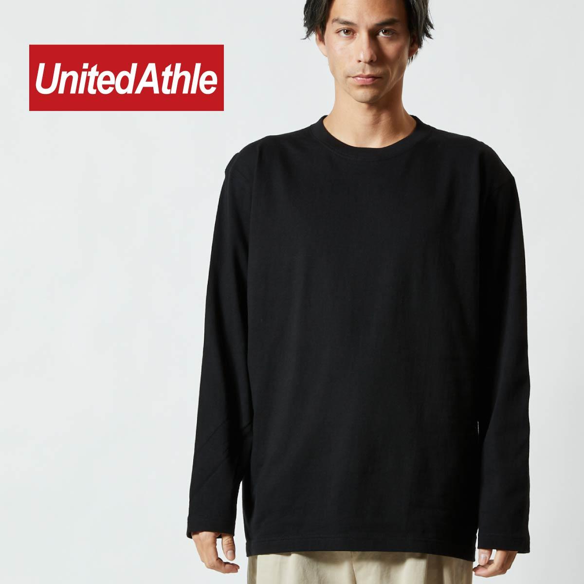 ロンT 無地 Tシャツ 長袖 メンズ 袖リブなし S-XL 長袖tシャツ メンズ 無地 United Athle ユナイテッドアスレ 5.6オンス ロングスリーブTシャツ 5010-01 男女兼用 ロンティー イベント お揃い ユニフォーム