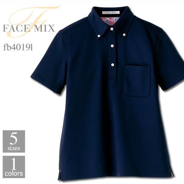 最安値に挑戦 FACE ブランド品 MIX フェイスミックス 最安値挑戦 レディスポロシャツ fb4019l 花柄 B