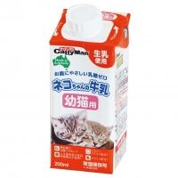 おなかにやさしい無乳糖 タウリン配合 商品 猫のミルク ドギーマンハヤシ ネコちゃんの牛乳 幼猫用 200mL子猫ミルク 出群