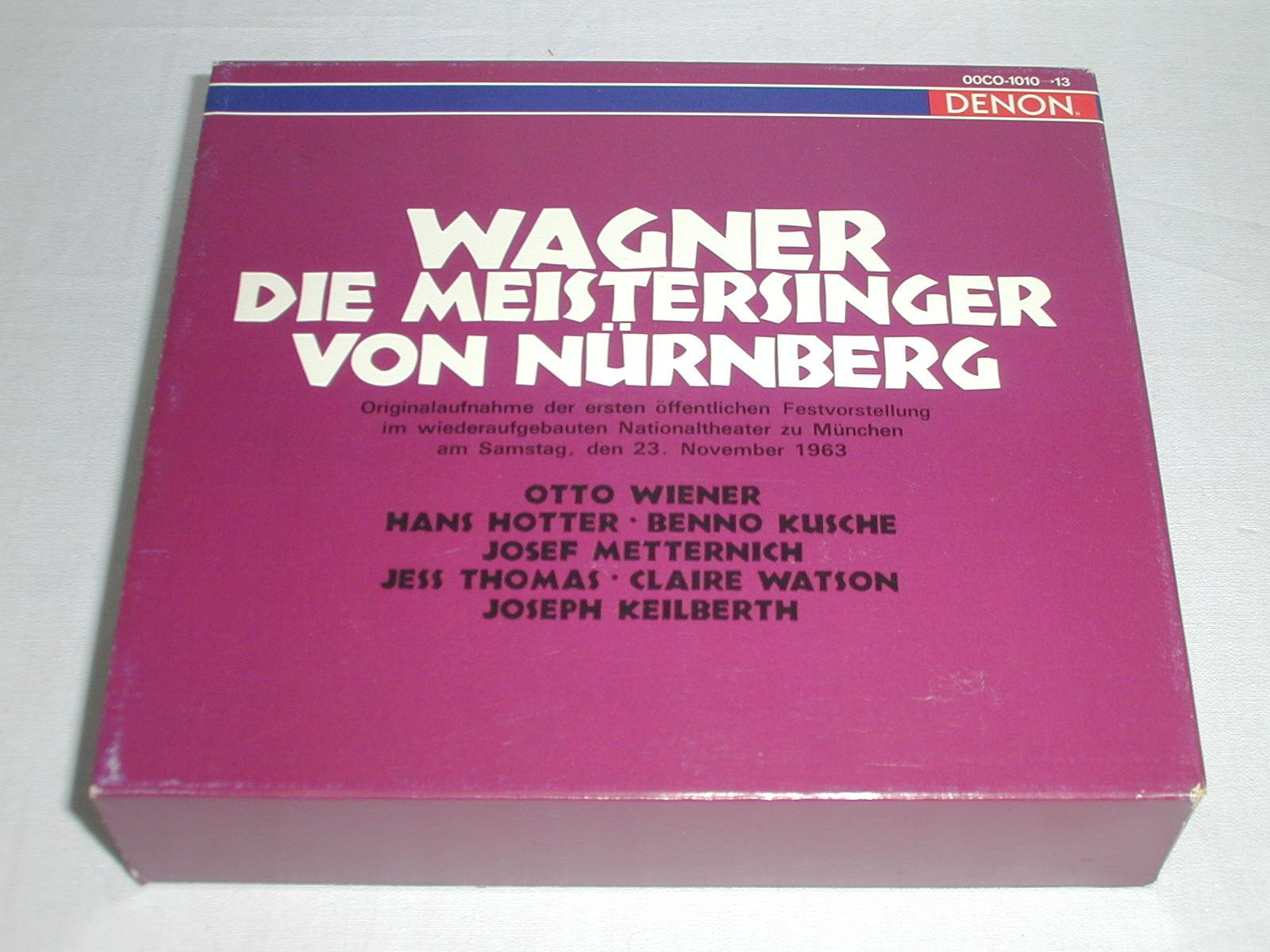 (CD) ワーグナー:楽劇「ニュルンベルクのマイスタージンガー」全曲/カイルベルト <4枚組>