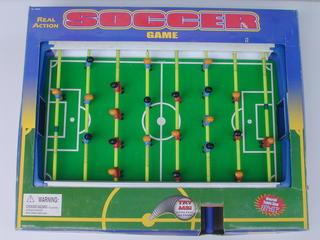 ☆テーブルサッカーゲーム☆リアルサッカーゲーム REAL ACTION SOCCER GAME フレーム白[未使用]【中古】
