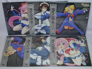 (LD:レーザーディスク)鋼鉄天使くるみ 全6巻セット