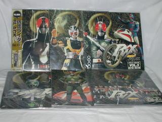 (LD:レーザーディスク)仮面ライダーBLACK RX 全6巻セット【中古】