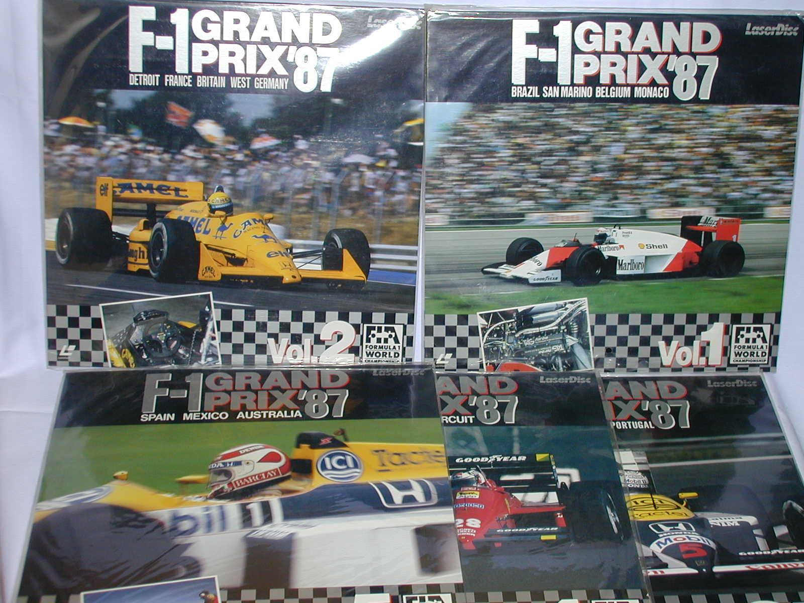 (LD:レーザーディスク)F-1グランプリ1987 ワールドチャンピオンシップラウンドVOL.1~5 全5巻セット【中古】