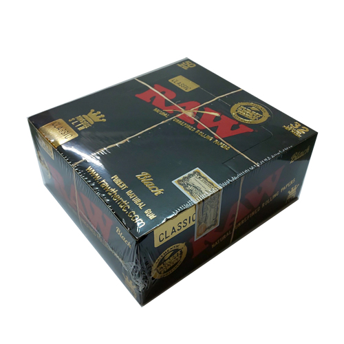 魅力的な価格 【まとめ買い/箱買い】【無添加】手巻きタバコ用ペーパー RAWクラシック・ブラックゴールド・キングサイズスリム(32枚入)1箱50個入, アブチョウ:d7b433c1 --- kventurepartners.sakura.ne.jp