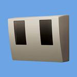 BQKN8325QK パナソニック Panasonic 電設資材 スマートデザインシリーズ WHMボックス 東京電力管内用 単相2線・単相(三相)3線用 2コ用・30~120A用 シャンパンブロンズ