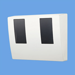 BQKN8325WK パナソニック Panasonic 電設資材 スマートデザインシリーズ WHMボックス 東京電力管内用 単相2線・単相(三相)3線用 2コ用・30~120A用 ホワイト