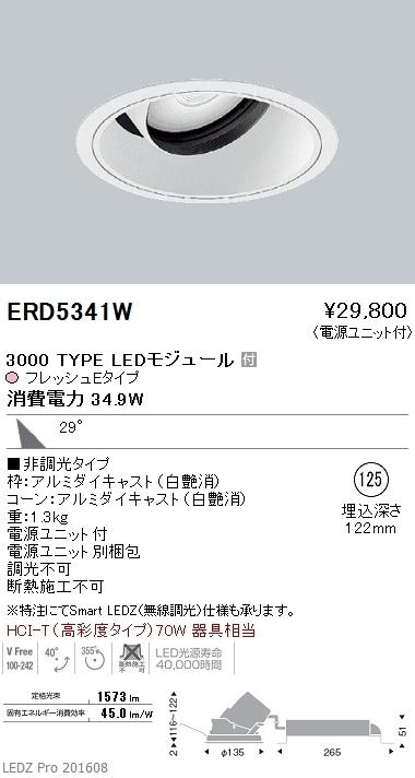 ERD5341W 遠藤照明 施設照明 生鮮食品用照明 LEDダウンライト ARCHIシリーズ 3000タイプ HCI-T(高彩度タイプ)70W相当 広角配光29° 非調光 フレッシュE