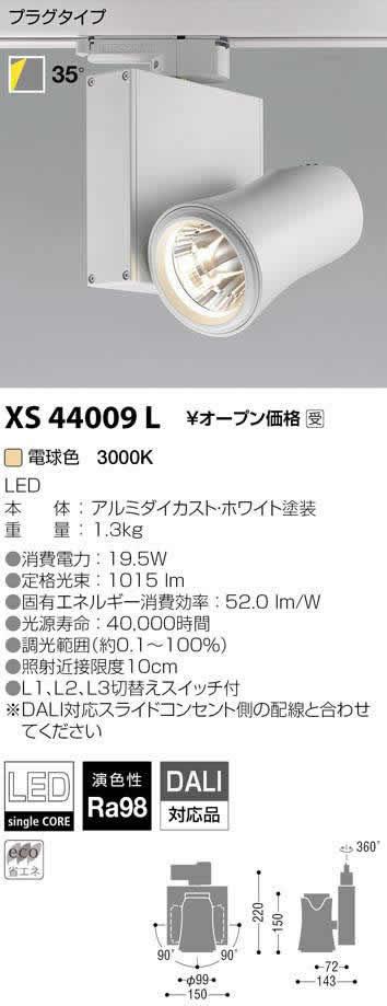 XS44009L コイズミ照明 施設照明 美術館・博物館照明 imXシリーズ XICATOモジュール LEDスポットライト プラグタイプ Artist/1300lmモジュール JR12V50W相当 電球色3000K 高演色 DALI対応 35°