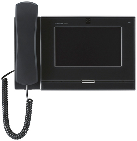 IX-MV7-HB アイホン ビジネス向けインターホン IPネットワーク対応インターホン IXシステム 7型モニター付インターホン端末 受話器付 黒色 IX-MV7-HB
