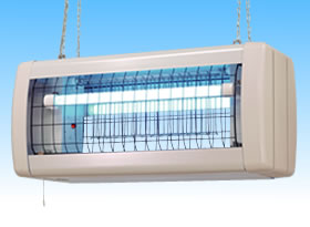 FS20214D 三興電機 電撃殺虫器 インセクト・キール 湿度の高い所 コンビニ・スーパー・厨房など 軒下用 20W 軽量・ステンレスタイプ FS20214D