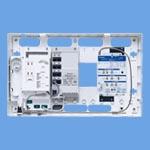 WTJ5766マルチメディアポートSシリーズ ギガ4K・8K(光コンセント) 10M/100M/1GスイッチングHUB内蔵 双方向CATV/UHF・BS・110度CSブースタ(8分配)内蔵パナソニック Panasonic 電設資材 マルチメディア対応配線器具