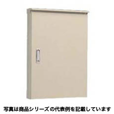 OR12-54C 日東工業 屋外用制御盤キャビネット (水切構造、防塵・防水パッキン付) 寸法:ヨコ500mm タテ400mm フカサ120mm 鉄製基板付 クリーム塗装 屋根付 OR12-54C