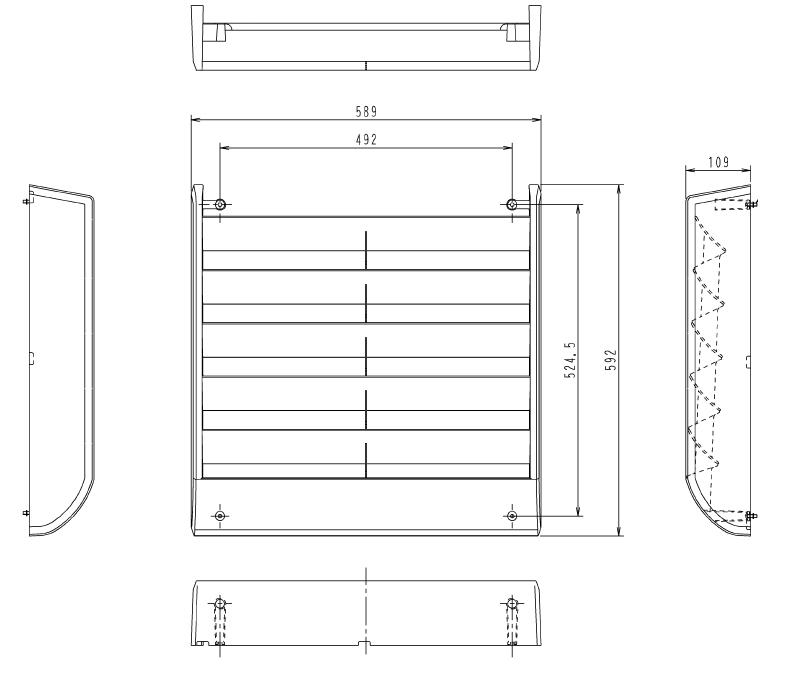 人気の照明器具が激安大特価 取付工事もご相談ください KPW5G112 ダイキン 業務用エアコン用部材 オーケー器材 室外機用 受注生産品 まとめ買い特価 風向調整板