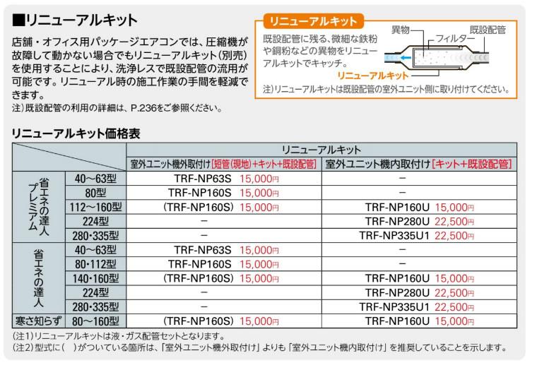 TRF-NP335U1 日立 業務用エアコン リニューアルキット 室外ユニット機内取付け用 部材