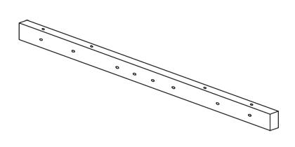 【8/25は店内全品ポイント3倍!】RE-M-11AL三菱電機 施設照明部材 屋外用照明 投光器取付架台 4灯用取付バー RE-M-11AL