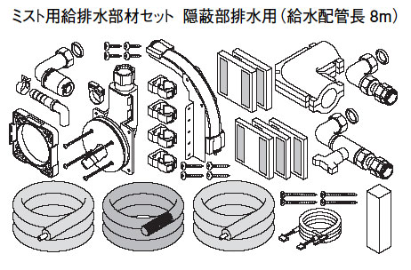 AD-HE1MB108 Panasonic エコキュート 貯湯ユニット その他部材 ミスト用給排水部材セット 隠蔽部排水用