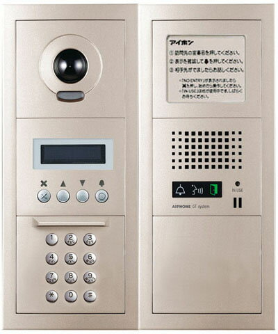 GT-DMN アイホン ビジネス向けインターホン テナントビル用テレビドアホン GTシステム 10キー式カメラ付集合玄関機