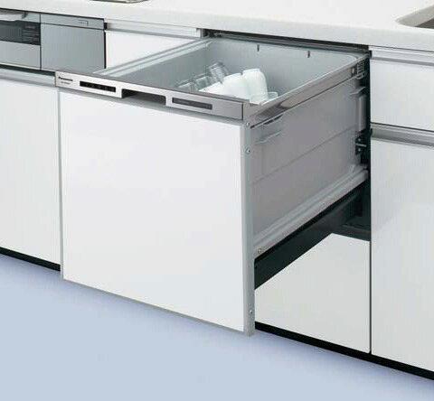 ●NP-45MS7S パナソニック Panasonic ビルトイン食器洗い乾燥機 ミドルタイプ M7シリーズ 奥行65cm 幅45cm ドアパネル型(シルバー)