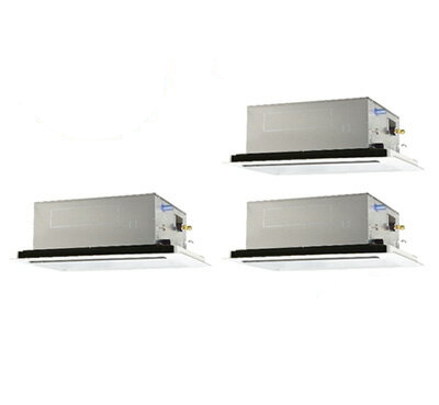 PLZT-ZRMP160LR 三菱電機 業務用エアコン 2方向天井カセット形 スリムZR(標準パネル) 同時トリプル160形 (6馬力 三相200V ワイヤード)