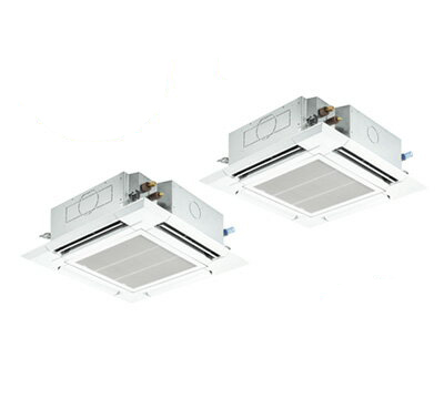 PLZX-ERMP80SER 三菱電機 業務用エアコン 4方向天井カセット形<ファインパワーカセット> スリムER(標準パネル)同時ツイン80形 (3馬力 単相200V ワイヤード)