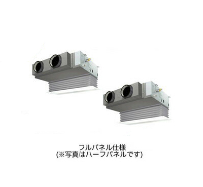 SSRB160BCD ダイキン 業務用エアコン FIVESTAR ZEAS 天井埋込カセット形 ビルトインHiタイプ 同時ツイン160形 (6馬力 三相200V ワイヤード 吸込フルパネル仕様)■分岐管(別梱包)含む