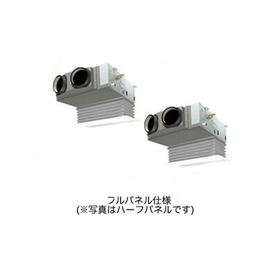SSRB80BCVD ダイキン 業務用エアコン FIVESTAR ZEAS 天井埋込カセット形 ビルトインHiタイプ 同時ツイン80形 (3馬力 単相200V ワイヤード 吸込フルパネル仕様)■分岐管(別梱包)含む