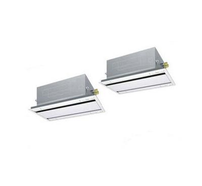 SZRG80BCVD ダイキン 業務用エアコン EcoZEAS 天井埋込カセット形エコ・ダブルフロー <標準>タイプ 同時ツイン80形 (3馬力 単相200V ワイヤード)■分岐管(別梱包)含む